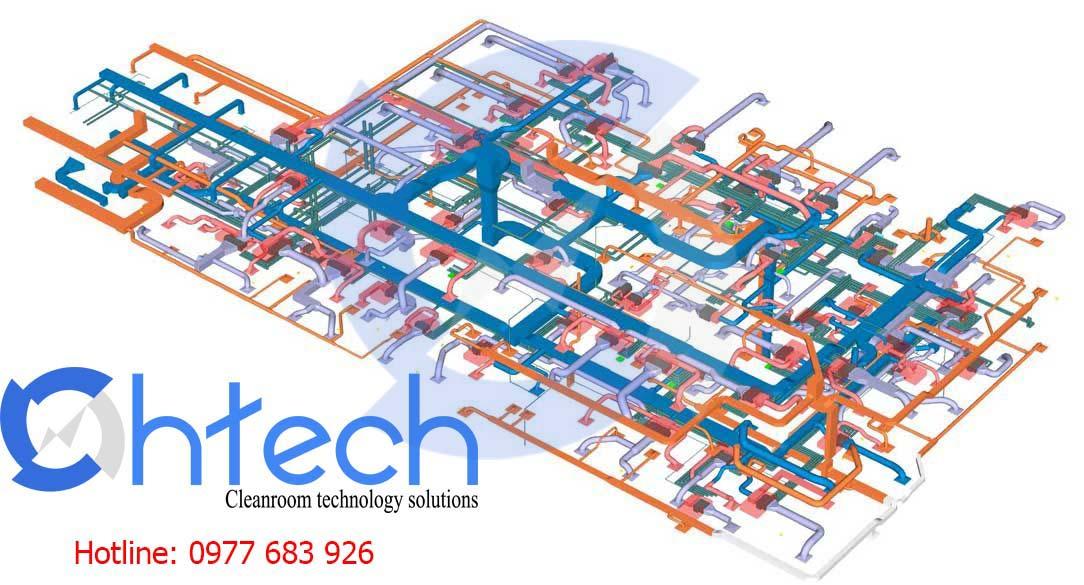 Bản vẽ 3D hệ thống HVAC
